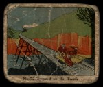 1931 Johnson Candy Dick Tracy R41 #72   Trapped on the Trestle Front Thumbnail