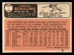 1966 Topps #6  Chuck Schilling  Back Thumbnail