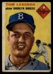1954 Topps #132  Tommy Lasorda  Front Thumbnail