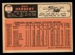 1966 Topps #121  Ray Herbert  Back Thumbnail