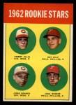 1963 Topps #29 ERR  -  Sammy Ellis / Ray Culp / John Boozer / Jesse Gonder 1962 Rookies Front Thumbnail