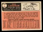 1966 Topps #43 ^xBTN^ Don Landrum   Back Thumbnail