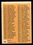 1963 Topps #191   Checklist 3 Back Thumbnail