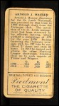1911 T205 #80  Arnold Hauser  Back Thumbnail