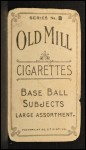 1910 T210-8 Old Mill Southern League  Lindsay  Back Thumbnail