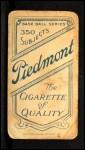 1909 T206 xGLV Jimmy Sheckard  Back Thumbnail