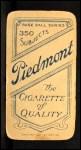 1909 T206  William O'Neil  Back Thumbnail