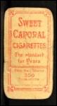 1909 T206  Ed Summers  Back Thumbnail
