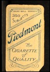 1909 T206 ATL Sid Smith  Back Thumbnail