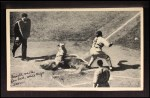 1936 National Chicle Fine Pen Premiums #115   Sewell waits for ball while Clift scores Front Thumbnail