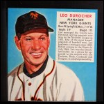 1952 Red Man #1 NL x Leo Durocher  Front Thumbnail