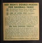 1952 Red Man #18 AL x Eddie Robinson  Back Thumbnail