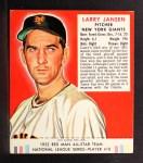 1952 Red Man #10 NL Larry Jansen  Front Thumbnail