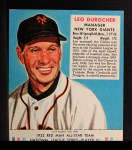 1952 Red Man #1 NL Leo Durocher  Front Thumbnail