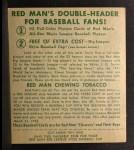 1952 Red Man #7 NL Granny Hamner  Back Thumbnail