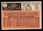 1966 Topps #369  Jim King  Back Thumbnail