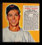1953 Red Man #2 NLx Bobby Adams  Front Thumbnail