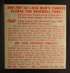 1953 Red Man #22 NL x Murry Dickson  Back Thumbnail