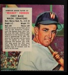 1953 Red Man #21 AL x Mickey Vernon  Front Thumbnail