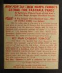 1953 Red Man #19 AL Bob Porterfield  Back Thumbnail
