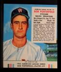 1953 Red Man #19 AL Bob Porterfield  Front Thumbnail