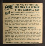 1954 Red Man #4 ALx George Kell  Back Thumbnail