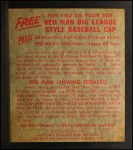 1955 Red Man #4 AL Nellie Fox  Back Thumbnail