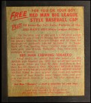1955 Red Man #6 NL Sal Maglie  Back Thumbnail
