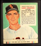 1955 Red Man #25 AL Sandy Consuegra  Front Thumbnail