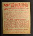 1955 Red Man #2 AL Jim Busby  Back Thumbnail