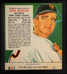 1955 Red Man #8 NL Don Mueller  Front Thumbnail