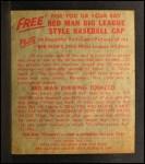1955 Red Man #7 AL Jim Hegan  Back Thumbnail
