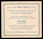 1952 Red Man American Indian Chiefs #22   Many Horns Back Thumbnail