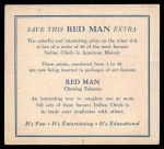 1952 Red Man American Indian Chiefs #3   Young Whirlwind Back Thumbnail