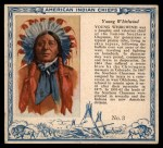 1952 Red Man American Indian Chiefs #3   Young Whirlwind Front Thumbnail
