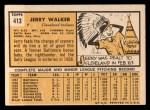 1963 Topps #413 B Jerry Walker  Back Thumbnail
