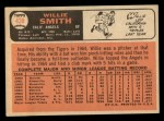 1966 Topps #438  Willie Smith  Back Thumbnail