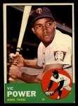 1963 Topps #40 *WHI* Vic Power  Front Thumbnail