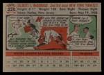 1956 Topps #225  Gil McDougald  Back Thumbnail