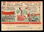 1956 Topps #60  Mayo Smith  Back Thumbnail