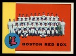 1963 Topps #202   Red Sox Team Front Thumbnail