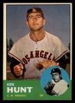 1963 Topps #207  Ken Hunt  Front Thumbnail