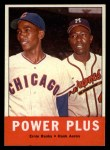 1963 Topps #242   -  Ernie Banks / Hank Aaron Power Plus  Front Thumbnail