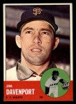 1963 Topps #388 TCH Jim Davenport  Front Thumbnail