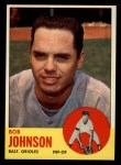 1963 Topps #504  Bob Johnson  Front Thumbnail