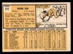 1963 Topps #372 COR Don Lee  Back Thumbnail