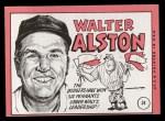 1969 Topps #24 BRK Walter Alston    Back Thumbnail