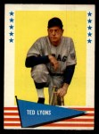 1961 Fleer #122  Ted Lyons  Front Thumbnail