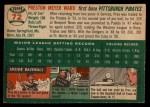 1954 Topps #72  Preston Ward  Back Thumbnail