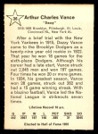 1961 Golden Press #26  Dazzy Vance     Back Thumbnail